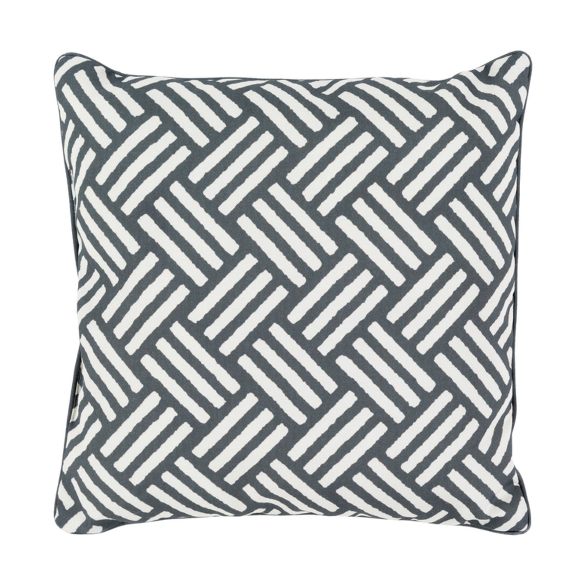 Surya Bw007 1616 Basketweave 16 X 16 Inch Black And White Outdoor