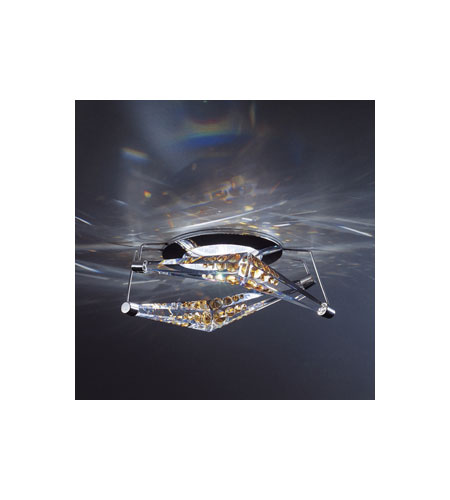 Swarovski 4 Reflex Semi-Flush Mount in Chrome with Topaz Crystal A8992NR500121 photo