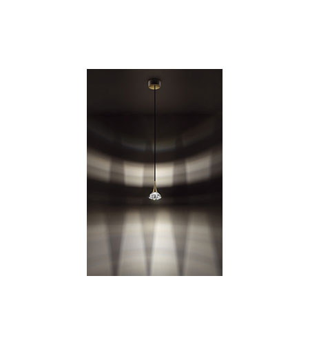 Swarovski Sinar 1 Light Halogen Pendant in Chrome-Chrome Matte with Clear Crystal A9950NR700327 photo