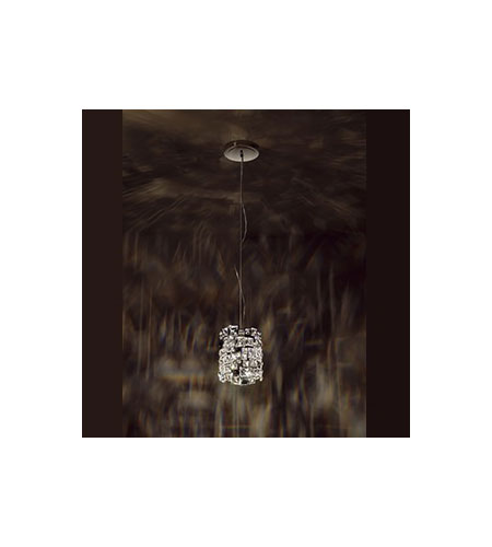 Swarovski Mosaix 1 Light Halogen Pendant in Stainless Steel with Clear Crystal A9950NR700269 photo