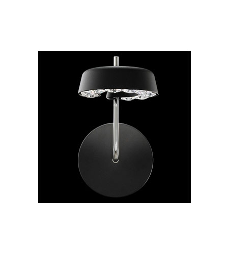 Swarovski Inside-Out LED Wall Sconce in Black with Crystal Crystal SNT610N-BK1S photo