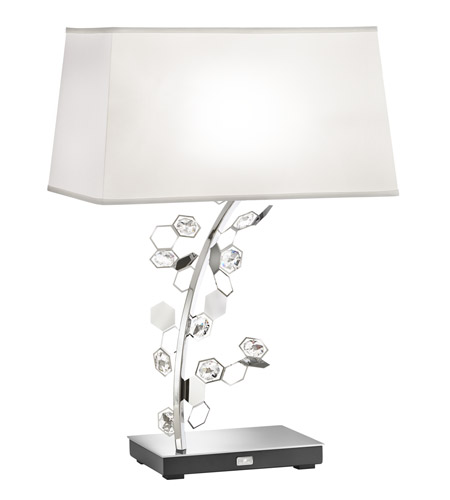 Attrayant Swarovski SCY570N SS1S Crystalon 26 Inch 75 Watt Stainless Steel Table Lamp  Portable Light In