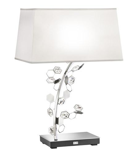 Swarovski Scy570n Ss1s Crystalon 26 Inch 75 Watt Stainless Steel Table Lamp Portable Light In