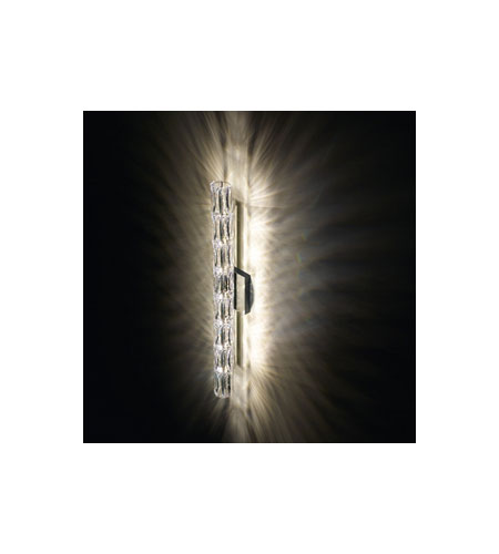 Swarovski Verve 7 Light Halogen Wall Sconce in Stainless Steel with Clear Crystal A9950NR700256 photo