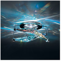 4 Reflex 1 Light 4 inch Chrome Semi-Flush Mount Ceiling Light in Sapphire Swarovski Elements, Canada