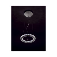 Swarovski Circle LED Pendant in Stainless Steel with Clear Crystal A9943NR000163