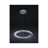 Swarovski Circle LED Pendant in Stainless Steel with Clear Crystal A9943NR000170
