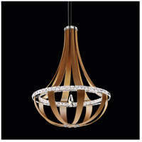 Crystal Empire LED White Pass Pendant Ceiling Light in 3000K