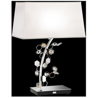 Crystalon 26 inch 75 watt Stainless Steel Table Lamp Portable Light