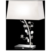 Crystalon 26 inch 75 watt Stainless Steel Table Lamp Portable Light in Clear Swarovski