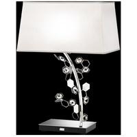 Swarovski SCY580N-SS1S Crystalon 26 inch 75 watt Stainless Steel Table Lamp Portable Light in Clear Swarovski