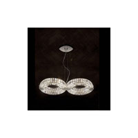 Swarovski Eyris 8 Light Halogen Pendant in Stainless Steel with Clear Crystal A9950NR700258