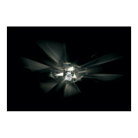 Octa 1 Light 4 inch Chrome Semi-Flush Mount Ceiling Light
