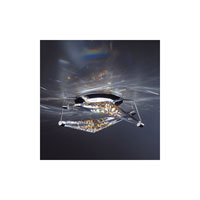 4 Reflex 1 Light 4 inch White Semi-Flush Mount Ceiling Light in Aurora Borealis Swarovski Elements, Outside of Canada