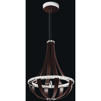 Crystal Empire LED Red Fox Pendant Ceiling Light in 4000K