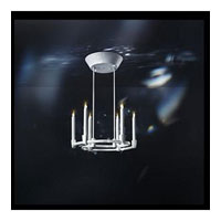 Swarovski Candella LED Chandelier in White with Crystal Satin Crystal SCA210N-WH1SAT