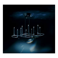 Swarovski Candella LED Chandelier in Earth Black with Crystal Satin Crystal SCA130N-BK2SAT