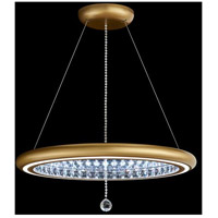 Swarovski MFC300N-GD1S Infinite Aura LED 30 inch Glimmer Gold Pendant Ceiling Light in Gold Plated