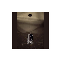 Swarovski Mosaix 3 Light Halogen Pendant in Black W/Texture with Clear Crystal A9950NR700263