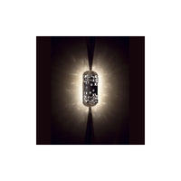 Swarovski Mosaix 2 Light Halogen Semi-Flush Mount in Black W/Texture with Clear Crystal A9950NR700261