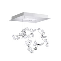 Crystalon LED 16 inch Stainless Steel Pendant Ceiling Light in Clear Swarovski Elements