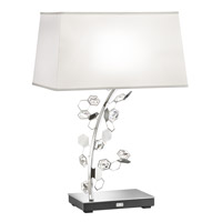 Crystalon 26 inch 75 watt Stainless Steel Table Lamp Portable Light in Clear Swarovski Elements