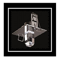 Crystal StarLED Deluxe Chrome Crystal Insert in Facets Top: 4; Bottom: 5 (Square)