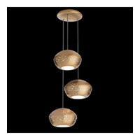 Inlay 3 Light Brushed Bronze Pendant Ceiling Light
