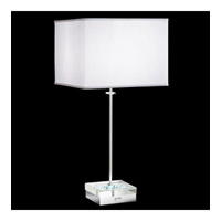 Swarovski Brillet 1 Light Table Lamp in Stainless Steel SKB610N-WH3AQ