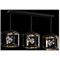 Swarovski SQB610N-BK1S Fyra LED 8 inch Black Pendant Ceiling Light