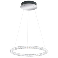 Circle LED Stainless Steel Pendant Ceiling Light in 3000K