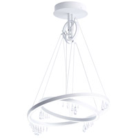 Solarius 1 Light 28 inch Glimmer Gray Chandelier Ceiling Light