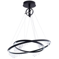 Swarovski SCK121N-BK1S Solarius 1 Light 39 inch Black Chandelier Ceiling Light