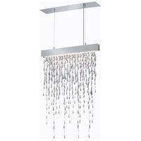 Crystalline Icicles LED 27 inch Stainless Steel Pendant Ceiling Light