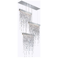 Crystalline Icicles LED 44 inch Stainless Steel Pendant Ceiling Light