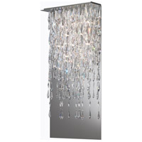 Crystalline Icicles LED 13 inch Stainless Steel Pendant Ceiling Light