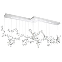 Crystalon LED 24 inch Stainless Steel Pendant Ceiling Light in Clear Swarovski Elements
