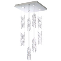 Turns LED 22 inch Polished Stainless Steel Foyer Pendant Ceiling Light