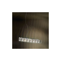 Swarovski Verve 7 Light Halogen Pendant in Stainless Steel with Clear Crystal A9950NR700253