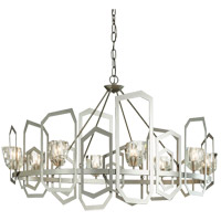 Synchronicity 105020-1006 Gatsby 8 Light 27 inch Vintage Platinum with Crystal Accent Chandelier Ceiling Light