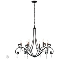 Synchronicity 105057-1004 Stella 6 Light 33 inch Black with Crystal Chandelier Ceiling Light
