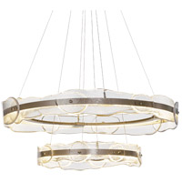 Synchronicity 139782-1007 Solstice LED 37 inch Soft Gold Pendant Ceiling Light Tiered