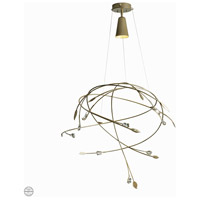 Synchronicity 139827-1022 Gaia 1 Light 31 inch Soft Gold with Crystal Accent Pendant Ceiling Light