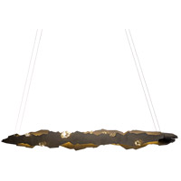 Synchronicity 139860-1010 Trove LED 6 inch Dark Smoke/Crystal Pendant Ceiling Light