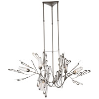 Synchronicity 139866-1011 Phoenix 6 Light 36 inch Dark Smoke with Crystal Pendant Ceiling Light