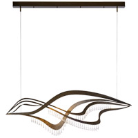 Synchronicity 139869-1002 Aurora LED 9 inch Dark Smoke with Crystal Accent Pendant Ceiling Light