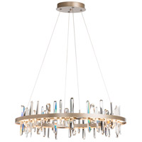 Synchronicity 139915-1007 Solitude LED 38 inch Soft Gold with Crystal Pendant Ceiling Light Circular