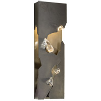 Trove LED 7 inch Burnished Steel with Crystal Accent Sconce Wall Light