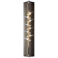 Stitch 2 Light 5 inch Burnished Steel with Crystal Accent ADA Sconce Wall Light