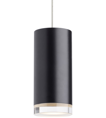 Tech Lighting 700MPDBSBS LED930 Dobson II LED 3 Inch Black With Satin  Nickel Pendant Ceiling
